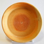 Orange Cream Garlic Grater Plate