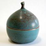 Lidded Box - Turquoise Patina