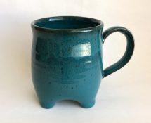 Teal 4-footed Mug