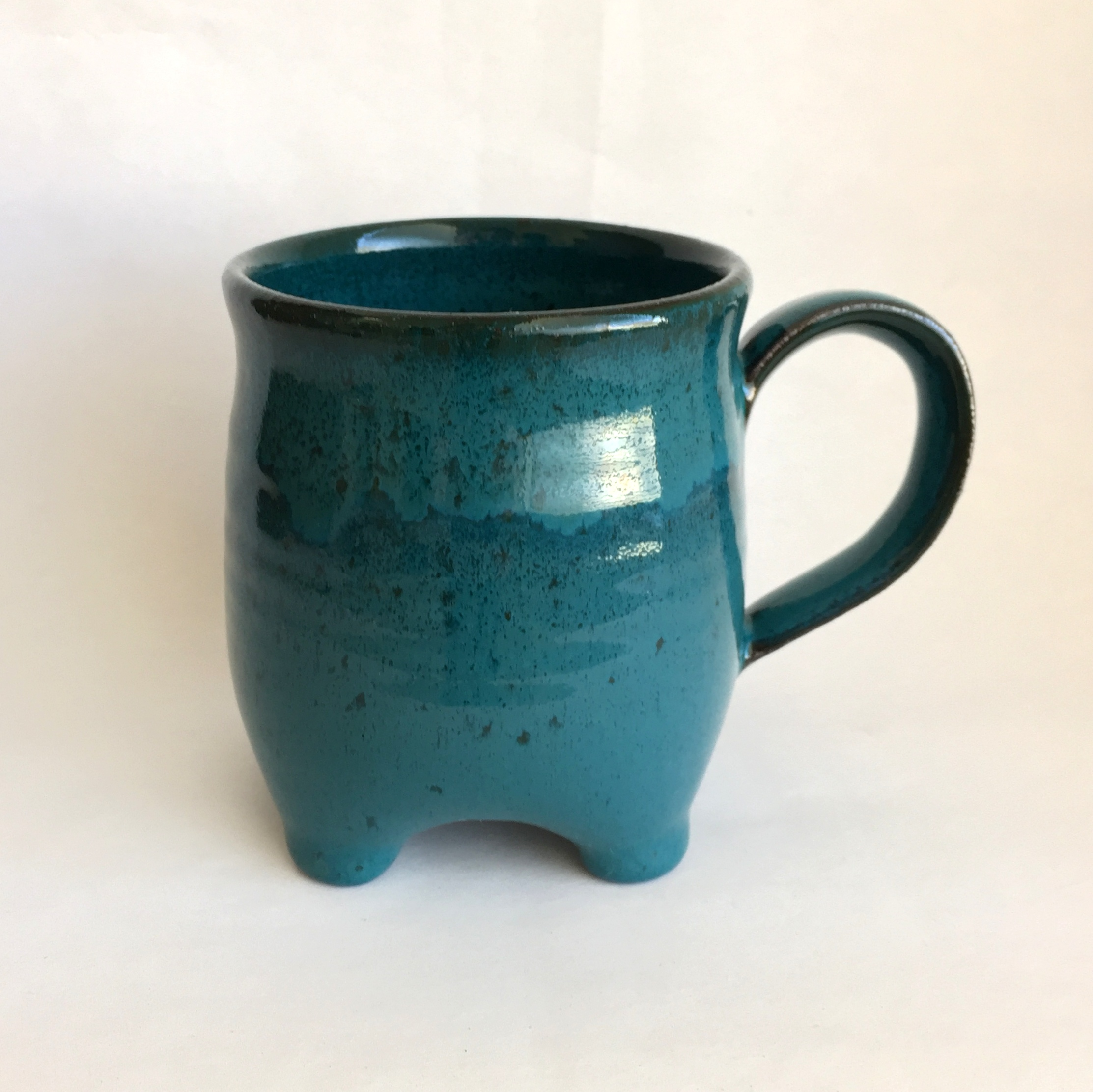 Teal 4-footed Mug